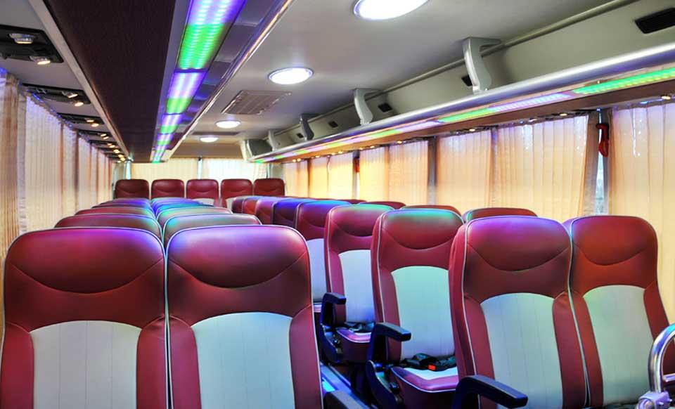 Inside Bus Hanoi to Cat Ba